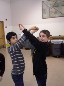 Students express movement in shapes